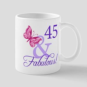 45 And Fabulous Birthday Gifts Mug