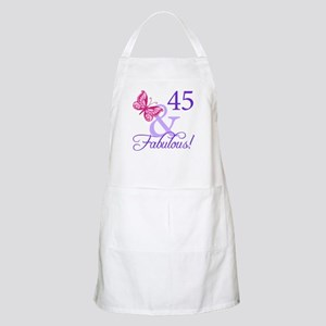 45 And Fabulous Birthday Gifts Apron