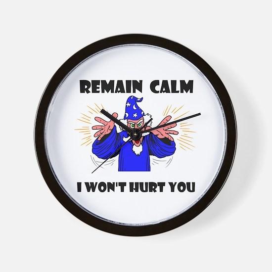 REMAIN CALM Wall Clock