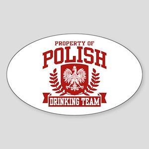 Polish Drinking Team Oval Sticker