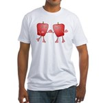 Apple Buddies Fitted T-Shirt