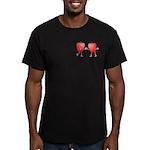 Apple Buddies Men's Fitted T-Shirt (dark)