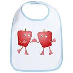 Apple Buddies Bib