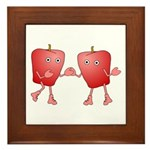 Apple Buddies Framed Tile