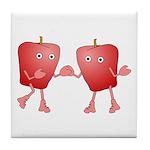 Apple Buddies Tile Coaster