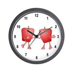 Apple Buddies Wall Clock