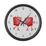 Apple Buddies Large Wall Clock