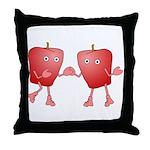 Apple Buddies Throw Pillow