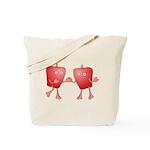 Apple Buddies Tote Bag
