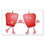 Apple Buddies Rectangle Sticker