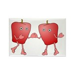 Apple Buddies Rectangle Magnet (100 pack)