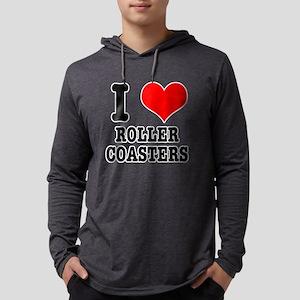 I Heart (Love) Roller Coasters Long Sleeve T-Shirt