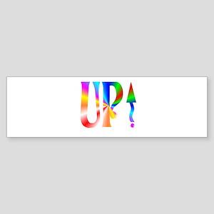 Up Rainbow Bumper Sticker