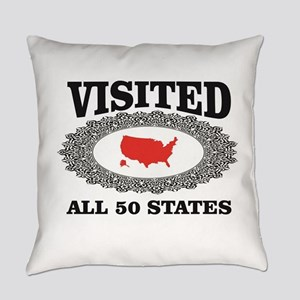 red visited the USA Everyday Pillow