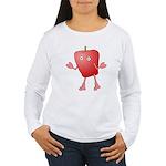 Apple Critter Women's Long Sleeve T-Shirt