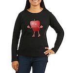 Apple Critter Women's Long Sleeve Dark T-Shirt