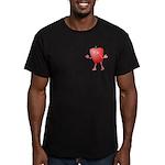 Apple Critter Men's Fitted T-Shirt (dark)
