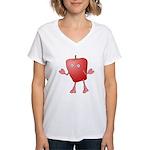 Apple Critter Women's V-Neck T-Shirt