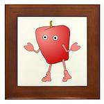 Apple Critter Framed Tile