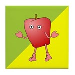 Apple Critter Tile Coaster