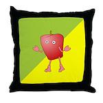 Apple Critter Throw Pillow