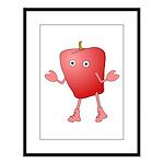 Apple Critter Large Framed Print