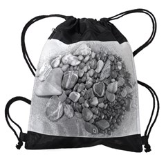 Lava Heart Stone Drawstring Bag