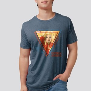 Captain Marvel Triangle T-Shirt