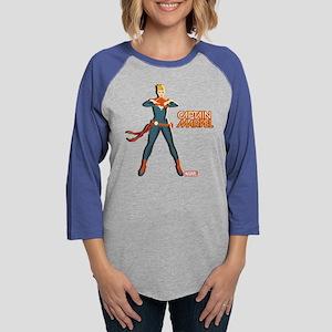 Captain Marvel Standing Long Sleeve T-Shirt