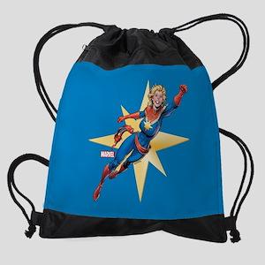 Captain Marvel Flying Full Bleed Drawstring Bag