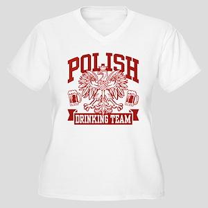 Polish Drinking Team Women's Plus Size V-Neck T-Sh
