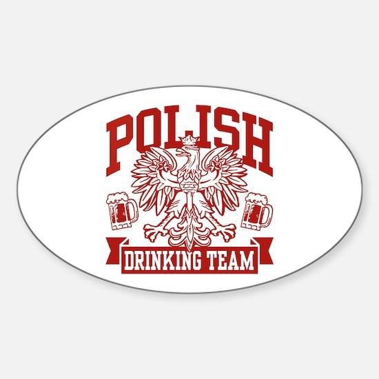 Polish Drinking Team Oval Decal