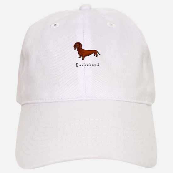Dachshund Illustration Baseball Baseball Cap