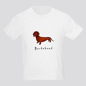 Dachshund Illustration Kids Light T-Shirt