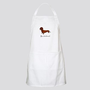 Dachshund Illustration BBQ Apron
