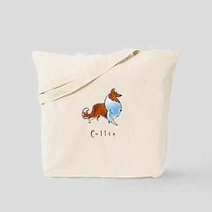 Collie Illustration Tote Bag
