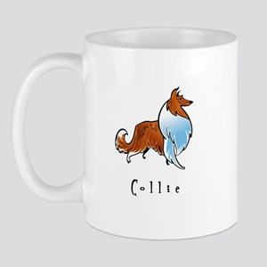 Collie Illustration Mug