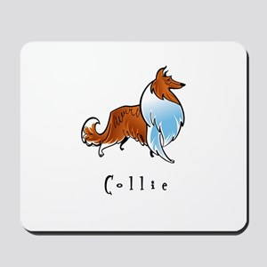 Collie Illustration Mousepad