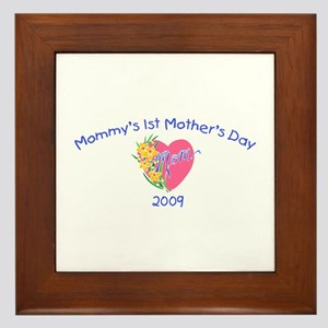 Mommy's 1st Mother's Day 2009 (Heart) Framed Tile