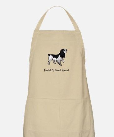 English Springer Spaniel Illustrated BBQ Apron