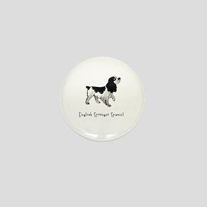 English Springer Spaniel Illustrated Mini Button