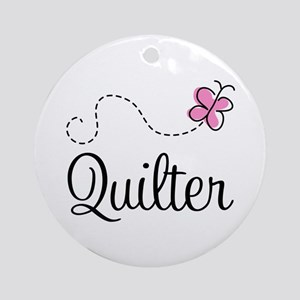 Pretty Quilter Ornament (Round)
