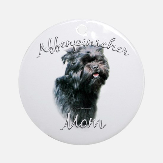 Affenpinscher Mom 2 Ornament (Round)