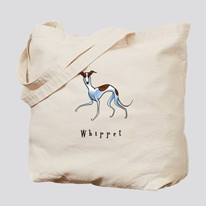 Whippet Illustration Tote Bag