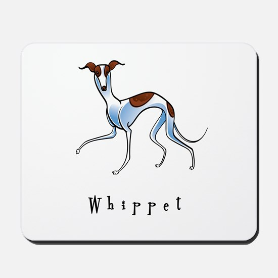 Whippet Illustration Mousepad