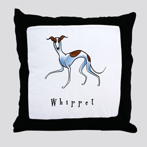 Whippet Illustration Throw Pillow