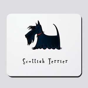 Scottish Terrier Illustration Mousepad