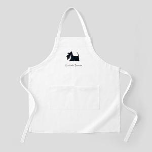 Scottish Terrier Illustration BBQ Apron