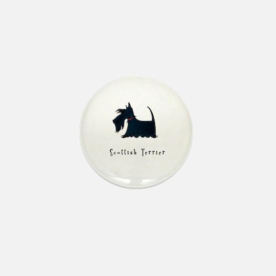 Scottish Terrier Illustration Mini Button