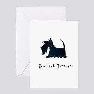 Scottish Terrier Illustration Greeting Card